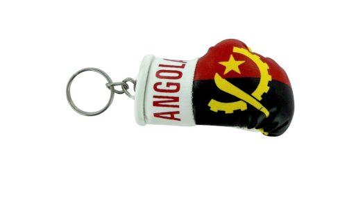Keychain Mini boxing gloves key chain ring flag key ring cute ANGOLA