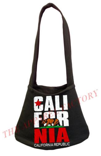 New California Republic Black Shoulder Bag Book Tote Kush Cali Life Dope Weed