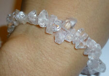 BEAUTIFUL LIGHT FILLED ALL DANBURITE NATURAL CRYSTAL BRACELET TERMINATED FOCAL