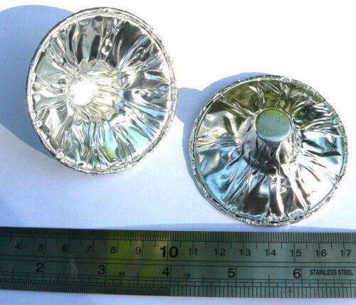 Sécurité jetables candle holders feuille argent........ candélabres lourde aluminium
