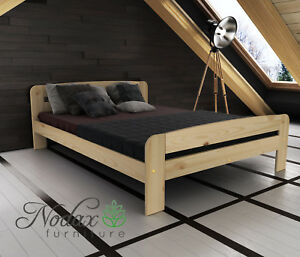 online store 52e36 9c2bb Details about New Solid Pine Small Double Bed Frame & Slats ***European  Size 120/200 cm - F2