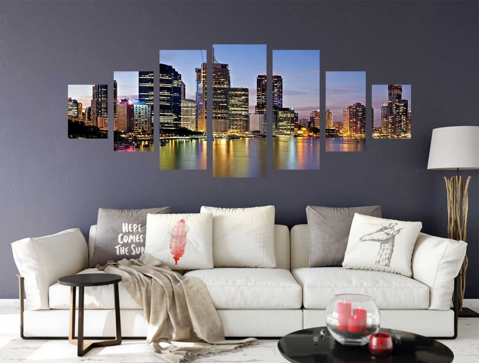 3D Night View City 58 Unframed Print Wall Paper Decal Wall Deco Indoor AJ Wall