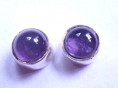 Small Lapis 925 Sterling Silver Stud Earrings Round Corona Sun Jewelry