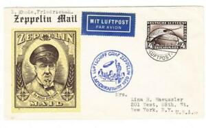 GRAF ZEPPELIN-AMERICA FLIGHT 1929-Germany Sc#C37-FRIEDERICHSHAFEN 31/JU