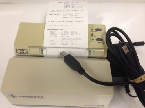 Addmaster IJ608011 USBSerial validation receipt Printer