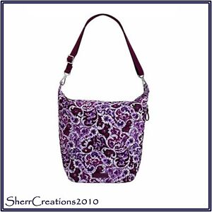5a970e7cf Image is loading NWT-Vera-Bradley-Carson-Hobo-Shoulder-Bag-in-