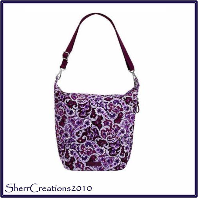 Vera Bradley Carson Hobo Shoulder Bag in Lilac Paisley for sale ... 924f1b7b1704b