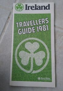 Vintage-Ireland-Travellers-Visitor-039-s-Guide-1981-Maps-Books-Tourist
