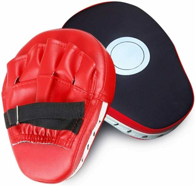 1 Pair Focus Mitts Training Punch MMA Boxing Strike Curved Pad Kick Muay Thai
