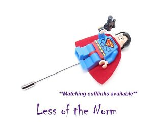 Superman Super-héros En Boutonnière Bouton Trou Pin Wedding Pageboy Témoins-afficher Le Titre D'origine