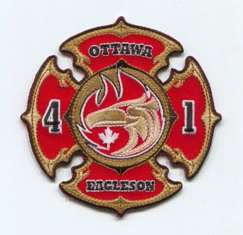 1 GTAAA Toronto Airport Fire Services Shoulder Patch-Old Ontario Airplane Grey