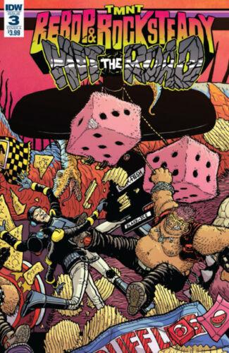 Teenage Mutant Ninja Turtles Bebop And Rock Steady Hit The Road #3 `18 NM