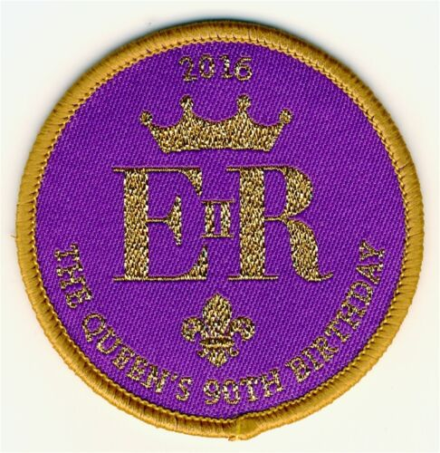 Scouts Queen/'s 90th Birthday Woven Uniform Badge