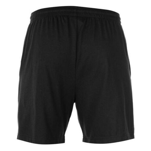 Fitness & Jogging ✅ SLAZENGER Jersey Herren Shorts kurze Hose Fleece Sporthose Trainingshose Black