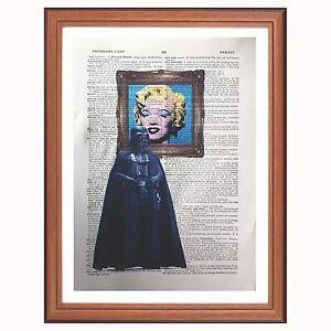 Darth Vader Vs Andy Warhol - dictionary art print Star Wars pop art Marilyn book