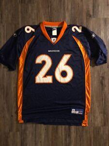sale retailer f47e0 d794f Details about Authentic Reebok Denver Broncos Jersey #26 Clinton Portis NFL  Adult Large Blue