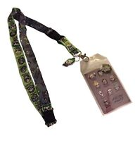 Suicide Squad Skulls D/s Lanyard Keychain Id Holder With Joker Charm And Sticker