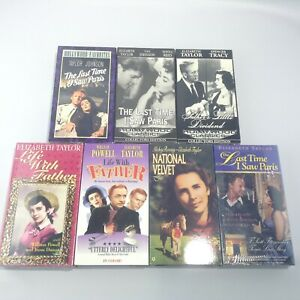 LOT 7 ELIZABETH TAYLOR VHS MOVIES Last Time I Saw Paris NATIONAL VELVET Father