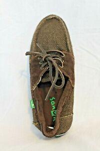 Sanuk-Mariner-Men-039-s-Sidewalk-Surfers-Boat-Shoes-Loafers-9-MSRP-55-NEW