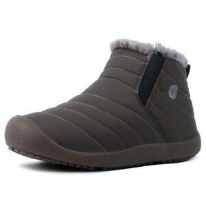 Femme-Homme-Chaud-Bottes-de-neige-hiver-en-coton-a-cote-de-Grande-Taille-Chaussures-De-Loisirs-NEUF