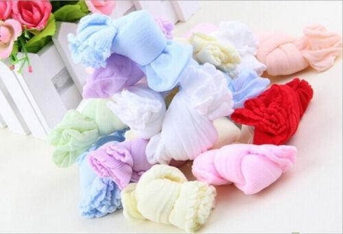 5 Paare geboren Baby Jungen Mädchen Baby Kinder weiche Socken Mischfarben CJ