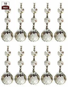 PK Chandelier Replacement Crystal Prisms Clear Faceted Ball CPC - Chandelier spare crystals