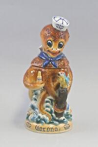 9959348 porcellana boccale birra tazza da collezione BROCCA POLPO CALAMARO ALTO