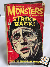 1965 Famous Monsters of Filmland No. 3 Strike Back Ackerman Paperback Book