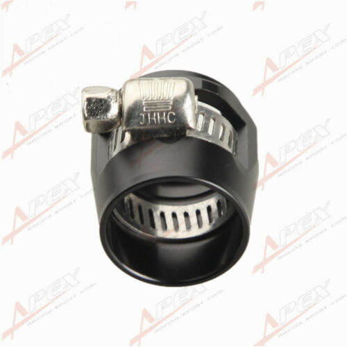 10 AN10 Black Fuel Hose Clamp Finisher HEX Finishers AN