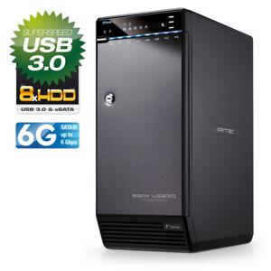 FANTEC-QB-X8US3-6G-8fach-Festplattengehaeuse-mit-eSATA-amp-USB-3-0