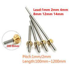 T8 Lead Screw Pitch12mm Lead 12481214mm Rod Stainless Lead Screwbrass Nut