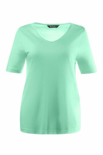 ULLA POPKEN T-Shirt V-Ausschnitt kurz hellgrün Geschenk*