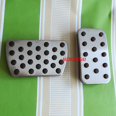 Silver Non-slip Car Foot Pedal Pad Cover Fits Honda 16-18 Civic Gas Brake Pedals