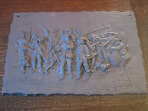 dekorative-Gusseisenplatte-Ofenplatte-Gusseisen-Kunstguss-Musketiere-Soldaten