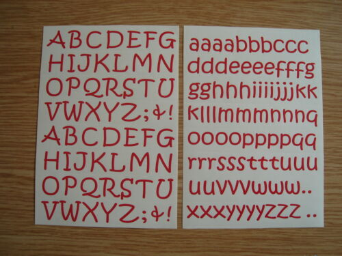 Sticky Back Vinyl Letters 15mm Kristen alphabet stickers crafts cards school