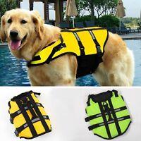 Hot Dog Saver Life Jacket Vest Reflective Safety Pet Swimwear Preserver Clothing