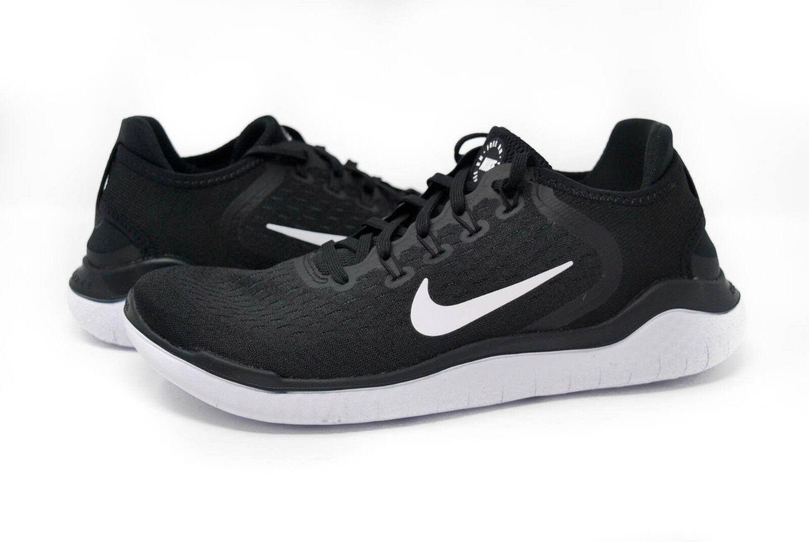 Nike Men's Free RN 2018 942836-001 Black White Sz 8-13 NEW