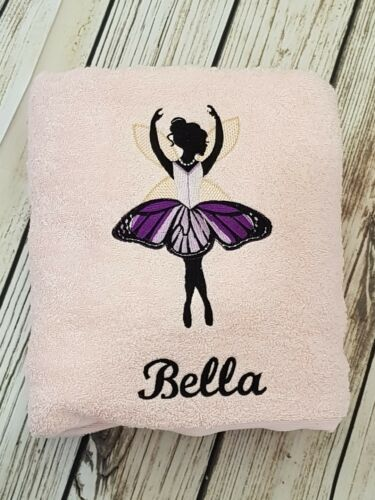 Embroidered Towel Butterfly Ballerina