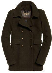 Nouveau militaire pour manteau à Winter manches Warm femmes kaki longues Superdry UUSqXr