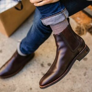 Leather Ankle Boots Men