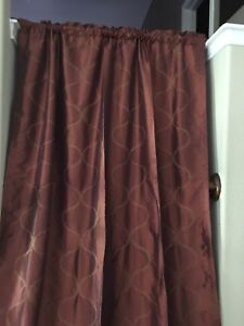 Image Is Loading Target Home Rust Gold Iridescent Lined Embroidered Curtains