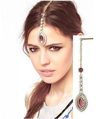 New Fashion Lady's Hair Accessory Eye Shape Crystal Drop Hair Clip Hair Jewelry