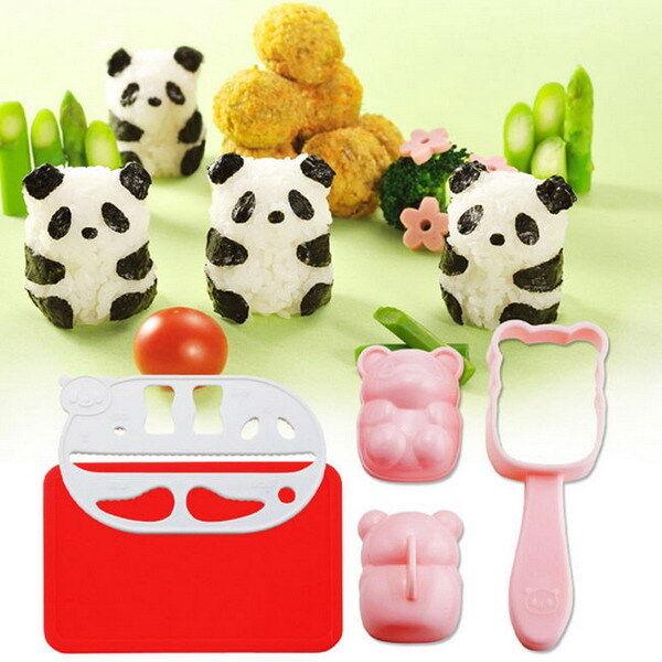 Ball Mold Onigiri Punch Sushi Rice Mould Nori DIY Maker Bento Tool Panda Shape Y