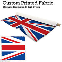 1 UNION JACK PER METRE FABRIC LYCRA SATIN JERSEY CHIFFON PRICES FROM £15.99