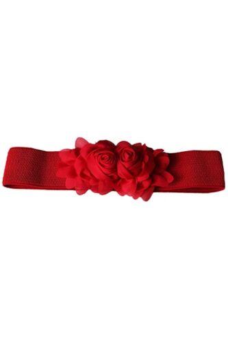 HK 1X Cintura elastica in vita elasticizzata con fiore elasticizzato a fiori