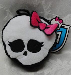 MONSTER-High-Cloth-plush-SKELETON-Coin-Purse-Keychain-2014-Mattel-Halloween-Bow