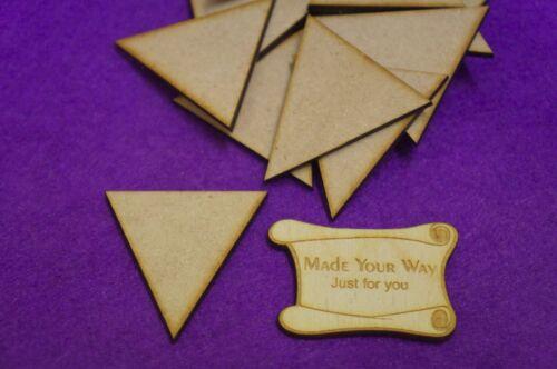 3cm 5cm MDF Triangles 1cm Laser cut wooden shape 4cm 2cm