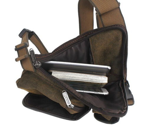 Men Canvas Hip Leg Bag Motorcycle Rider Tactical Military Belt Waist Fanny Pack