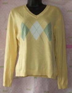 65-JAMAICA-BAY-YELLOW-sweater-blouse-RIBED-KNIT-long-sleeve-top