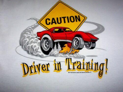 DRIVER IN TRAINING C3 VETTE FS NEW TODDLER//KIDS 2T CORVETTE T-SHIRT CAUTION